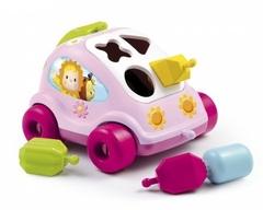 Smoby Развивающая машинка-сортер с фигурками розовая (211323-2/211118-2)