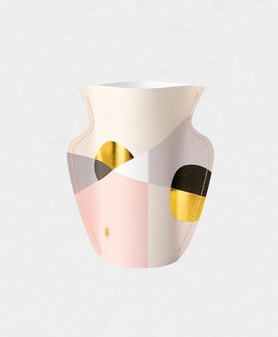 Двухсторонняя бумажная ваза SIENA PINK мини