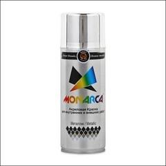 Краска аэрозольная акриловая Monarca металлик (яркий хром)