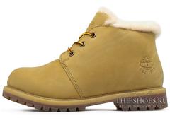 Ботинки Мужские Timberland Nellie Chukka Olive с Мехом