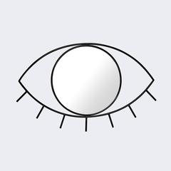 Зеркало настенное Cyclops среднее черное Doiy