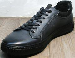 Черные кеды мужские Komcero 9K9154-734 Black-Grey