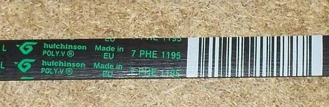 Ремень для стиральной машины Indesit/Ariston (Индезит/Аристон) 1195H7/H8 - 089652