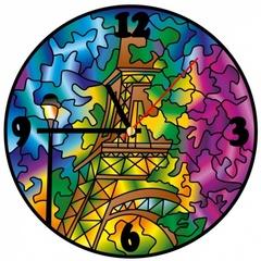 Париж - Часы витражные
