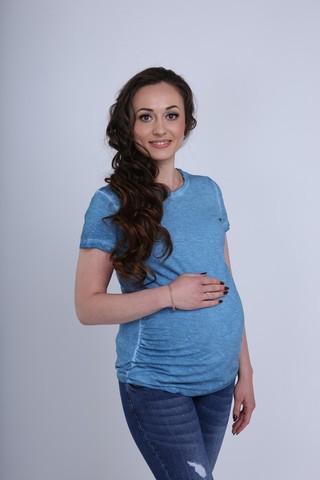 Футболка для беременных 09603 синий
