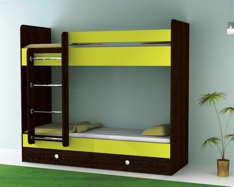 Кровать двухъярусная с ящиками ТЕНРИ