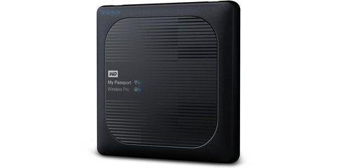 """Внешний жесткий диск WD My Passport Wireless Pro 1ТБ 2,5"""" 5400RPM USB 3.0/WiFi/SD вид справа"""