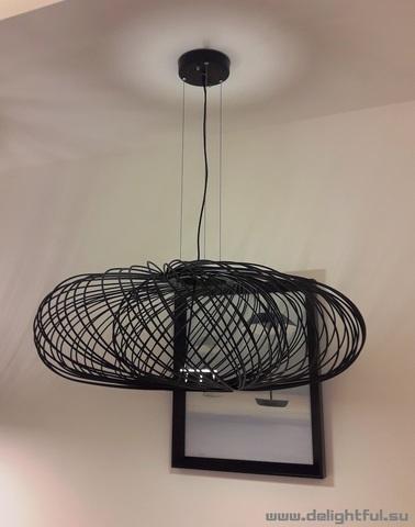 replica The Parachilna Anwar T30 Black Wire Chandelier