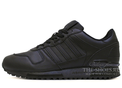 Кроссовки Мужские Adidas ZX 750 Black  Leather