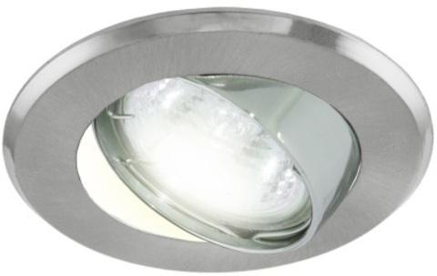 Светильник встраиваемый поворотный СВ 02-03 MR16 50Вт G5.3 матовый хром/хром TDM