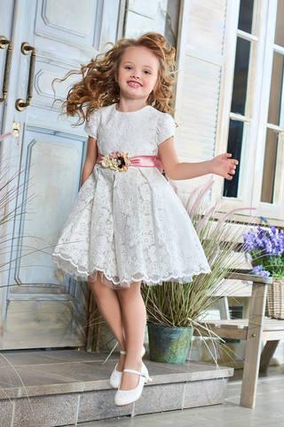 Ажурное белое платье (арт.04.02)
