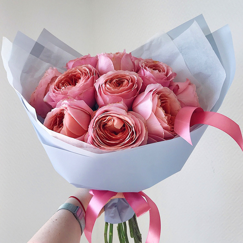 Букет 11 пионовидных роз Romantic Antik