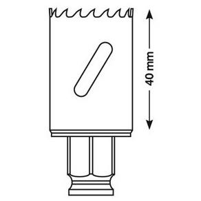 Коронка по металлу Bosch 17 мм PROGRESSOR
