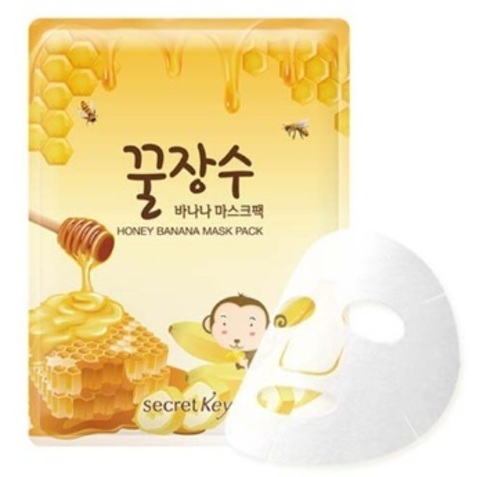 SECRET KEY  Honey Banana Mask Pack 1P Маска для лица с экстрактом банана и меда