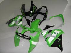 Комплект пластика для мотоцикла Kawasaki ZX-9R 00-01 Зелено-черный