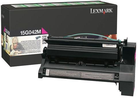 Картридж для принтеров Lexmark C752, C762 пурпурный (magenta). Ресурс 15000 стр (15G042M)