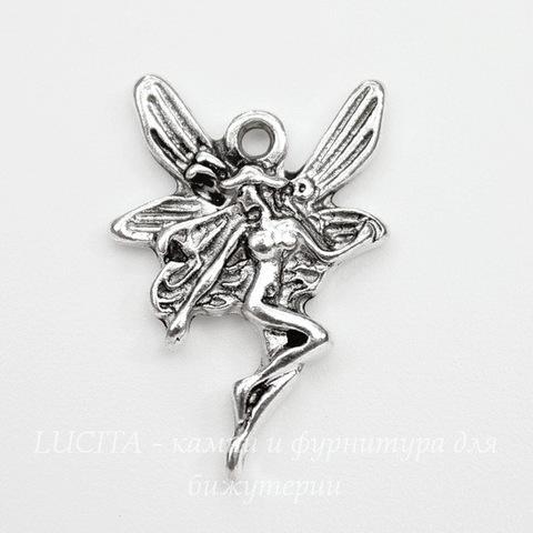 "Подвеска ""Феечка"" (цвет - античное серебро) 22х15 мм"