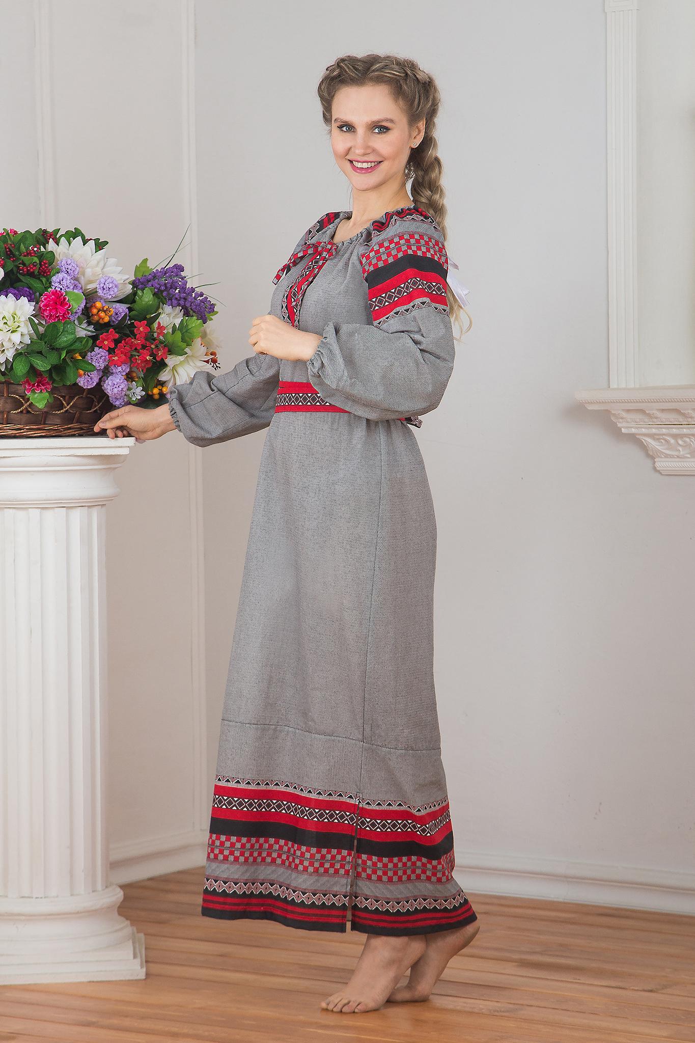 Традиционное платье Чалдоны 01 вид сбоку