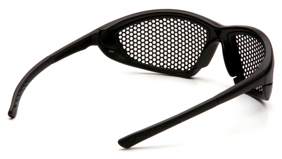 Очки баллистические тактические Pyramex Trifecta SB76WMD Anti-fog сетка черные 0%