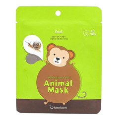 Berrisome Animal Mask Series Monkey - Маска тканевая с муцином улитки