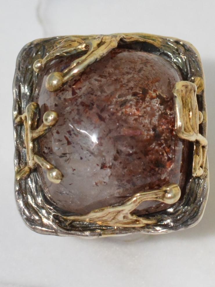 Идилия (серебряное кольцо с позолотой)