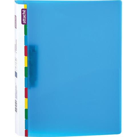Папка с зажимом Attache Diagonal синий