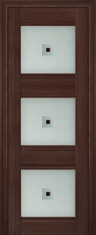Дверь Profil Doors №4Х, стекло узор, цвет орех сиена, остекленная