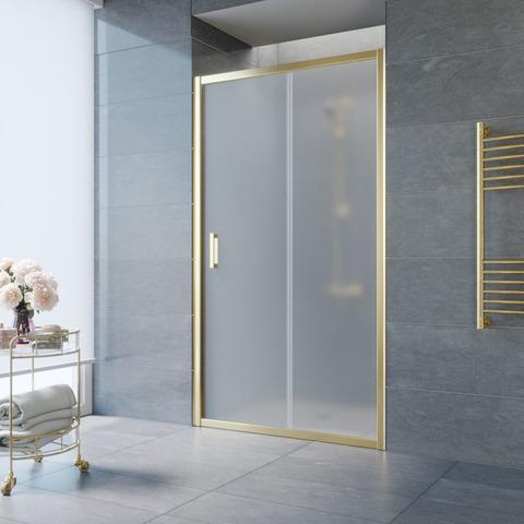 Душевая дверь в нишу Vegas Glass ZP профиль золото, стекло сатин