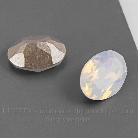 4120 Ювелирные стразы Сваровски White Opal (14х10 мм) ()