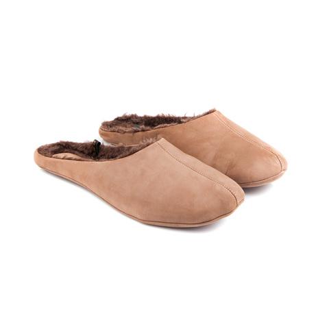 777137 туфли домашние мужские бежевые шерсть. КупиРазмер — обувь больших размеров марки Делфино