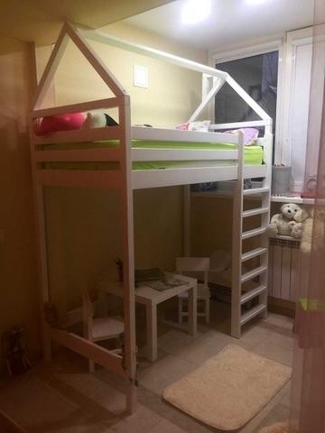 Кровать чердак Домик