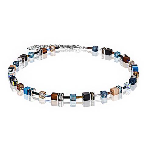 Колье Coeur de Lion 2838/10-0732 цвет синий, коричневый, чёрный