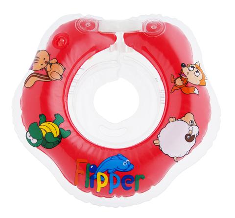 Надувной круг на шею для купания малышей Flipper.