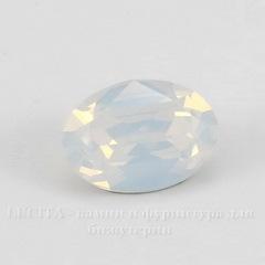 4120 Ювелирные стразы Сваровски White Opal (14х10 мм)