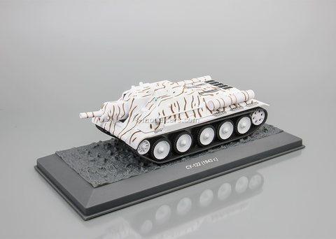 Tank SU-122 winter 1:43 DeAgostini Tanks. Legends Patriotic armored vehicles #8