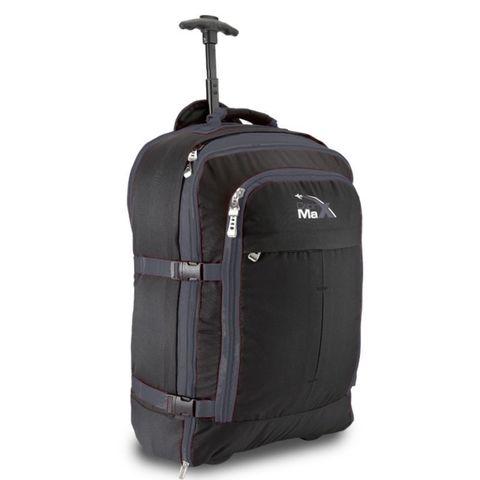Рюкзак-тележка Cabin Max Malmo Черный для ручной клади 44 литра 55 х 40 х 20 см