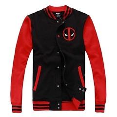 Куртка бейсбольная Дэдпул красная