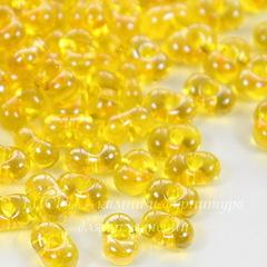 86010/ Бисер Preciosa Фарфаль (Farfalle) 6,5х3,2 мм прозрачный блестящий желтый