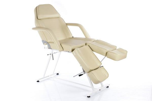 Стационарные кушетки косметолога, педикюрные кресла-кушетки RESTPRO Beauty-2 Cream, Педикюрное косметологическое кресло-кушетка Beauty_2_White_1_новый_размер.jpg