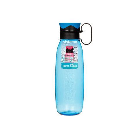 Бутылка для воды из тритана с петелькой 650 мл