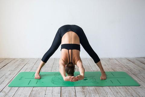 Каучуковый коврик для йоги Panda с разметкой 185*68*0,4см
