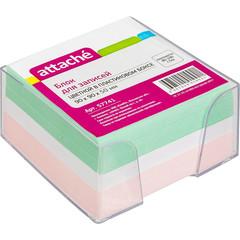 Блок-кубик ATTACHE в стакане 9х9х5 цветной блок