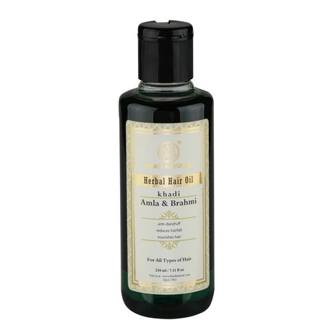 """""""Амла и Брахми""""  укрепляющее масло для роста волос Khadi Natural, 210 мл"""