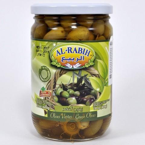 Оливки зеленые с косточкой Al-Rabih, 600г