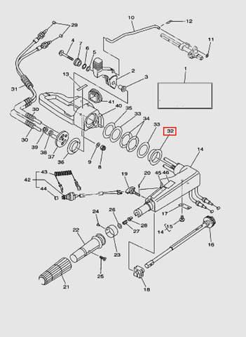 Втулка  для лодочного мотора T40 Sea-PRO (14-32)