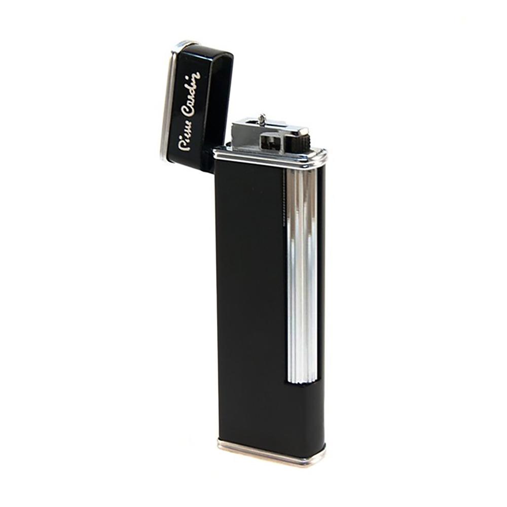 Зажигалка Pierre Cardin кремниевая газовая, цвет серебристый/черный лак, 2,4х1,1х7см