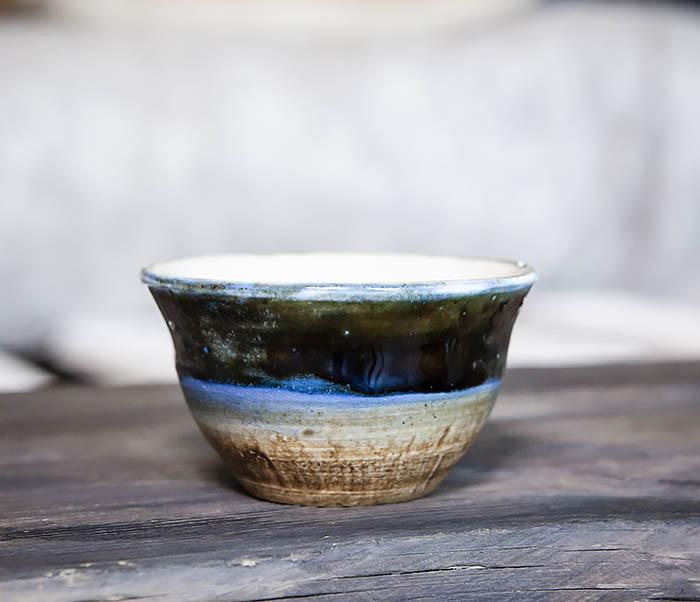 CUP101-1 Пиала для чая ручной работы из глины фото 06