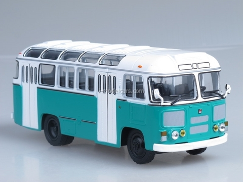 PAZ-672M white-green Soviet Bus 1:43