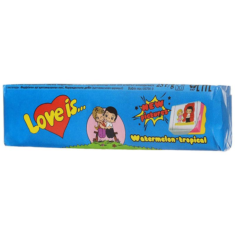 Love Is - новые вкладыши, любимые вкусы (арбуз-тропик)