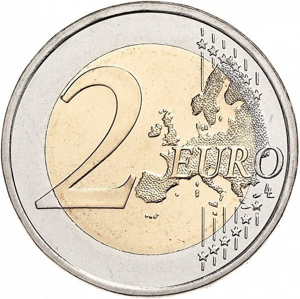 2016. 2 евро. Франция. 100 лет со дня рождения и 20 лет со дня смерти Франсуа Миттерана.